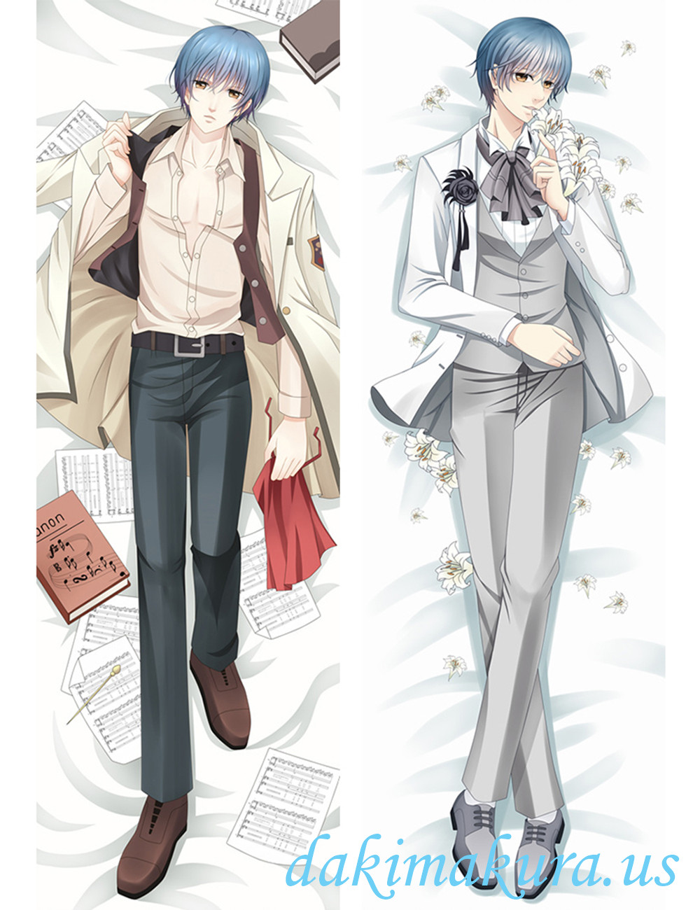 Len Tsukimori - La Corda d'Oro Anime Male Dakimakura Japanese Hugging Body Pillow Cover