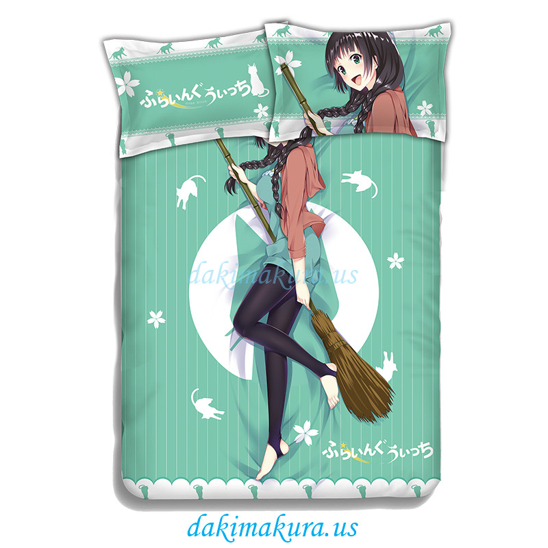 Makoto Kowata - Flying Witch Anime Bedding Sets,Bed Blanket & Duvet Cover,Bed Sheet with Pillow Covers