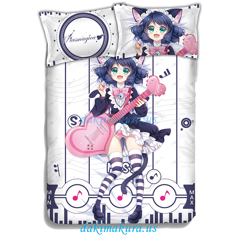 Plasmagica-show by rock Anime Bed Blanket Duvet Cover with Pillow Covers