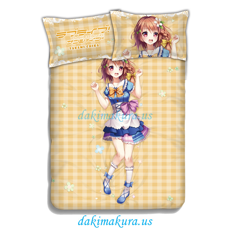 Takami Chika-LoveLive Sunshine Bedding Sets,Bed Blanket & Duvet Cover,Bed Sheet with Pillow Covers