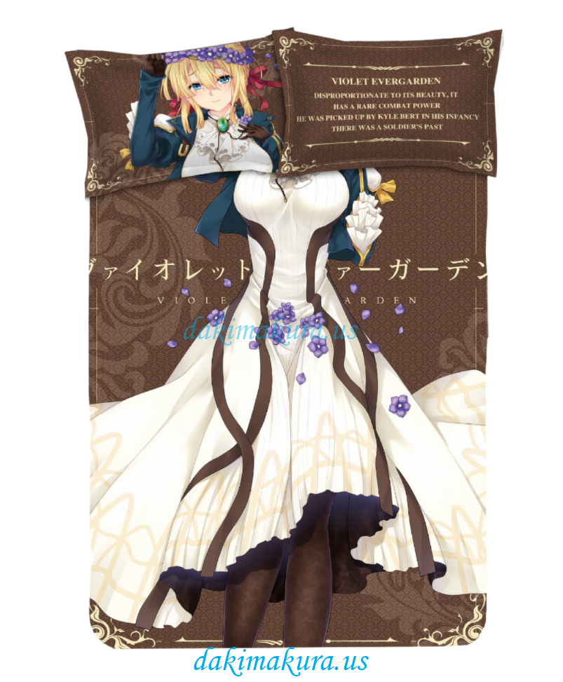 Violet Evergarden Japanese Anime Bed Sheet Duvet Cover with Pillow Covers