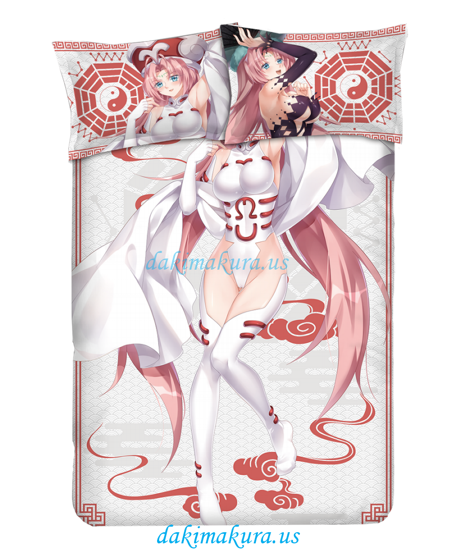 Daji Japanese Anime Bed Blanket Duvet Cover with Pillow Covers