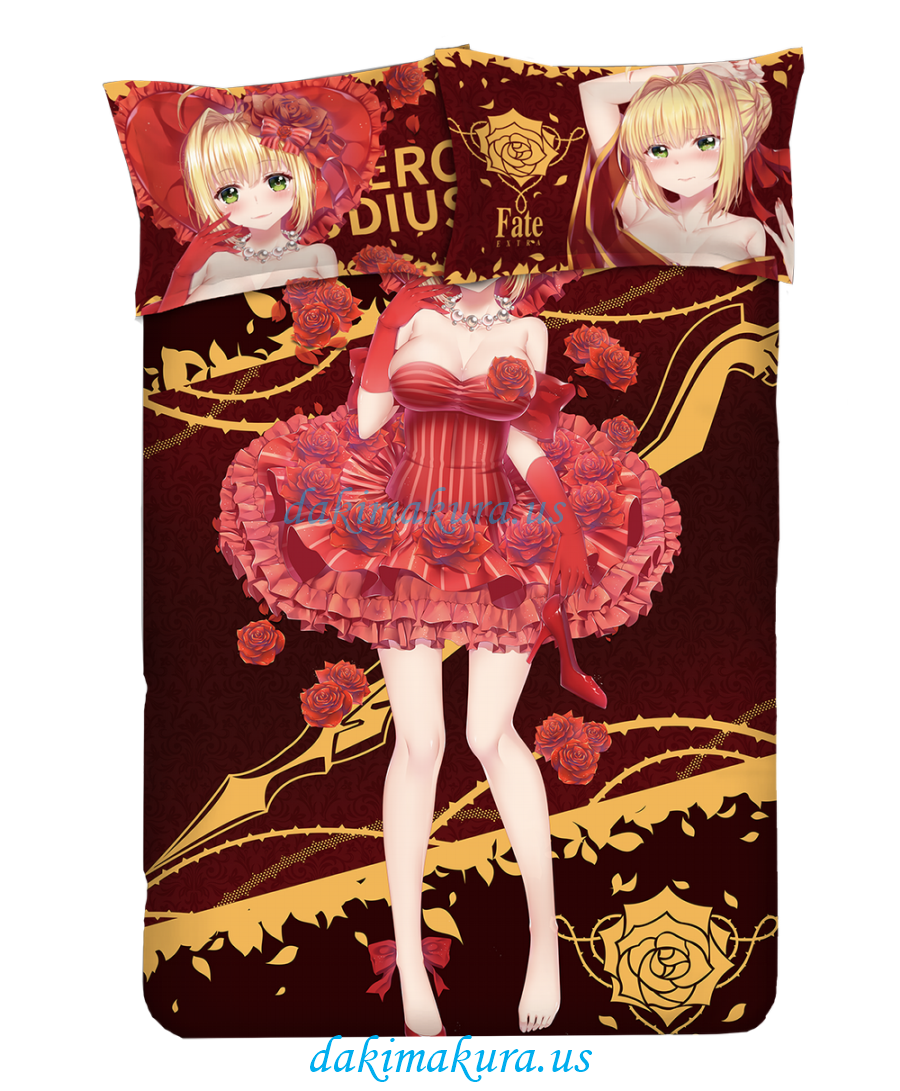 Nero Claudius Caesar Augustus Germanicus-Fate EXTRA Anime Bed Sheet Duvet Cover with Pillow Covers