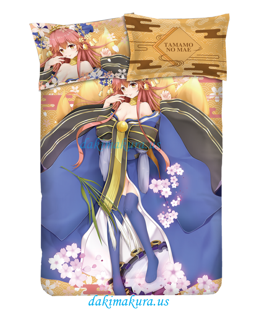 Tamamo no Mae - Fate Anime 4 Pieces Bedding Sets,Bed Sheet Duvet Cover with Pillow Covers