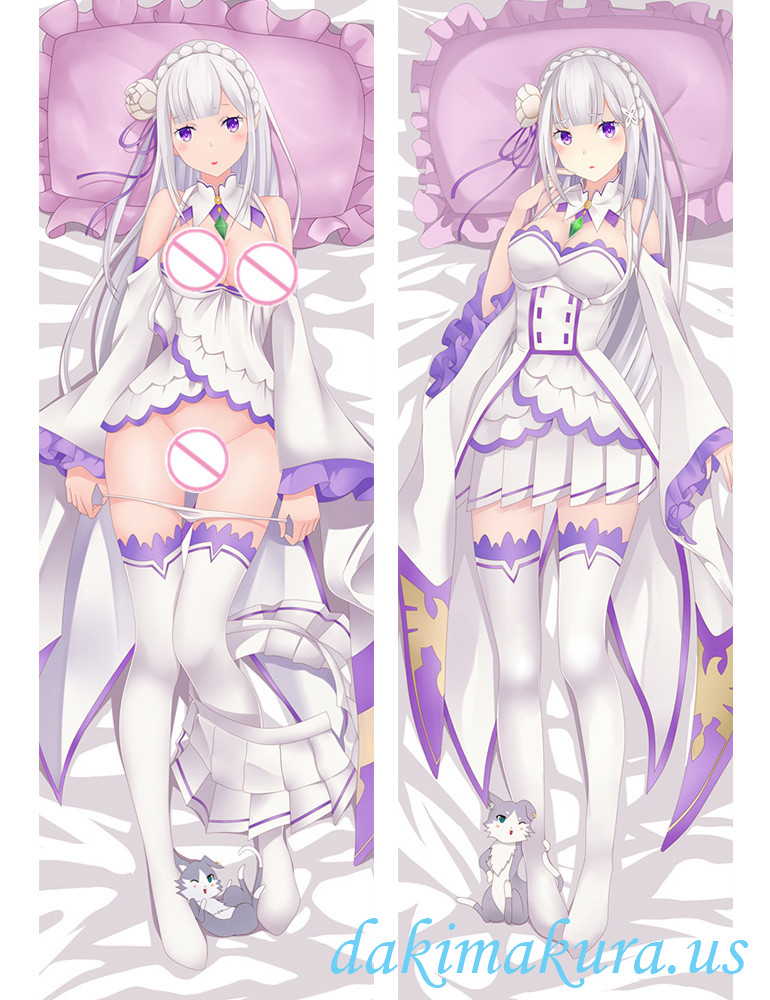 Emilia - Re:Zero Body hug dakimakura girlfriend body pillow cover