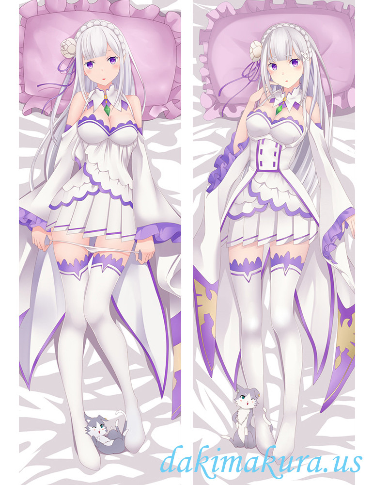 Emilia - Re:Zero Hugging body anime cuddle pillow covers