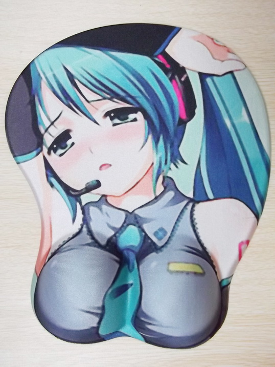 3D Mousepad-Soft Breast 3D Silicon Mouse Pad Mat Wrist Rest
