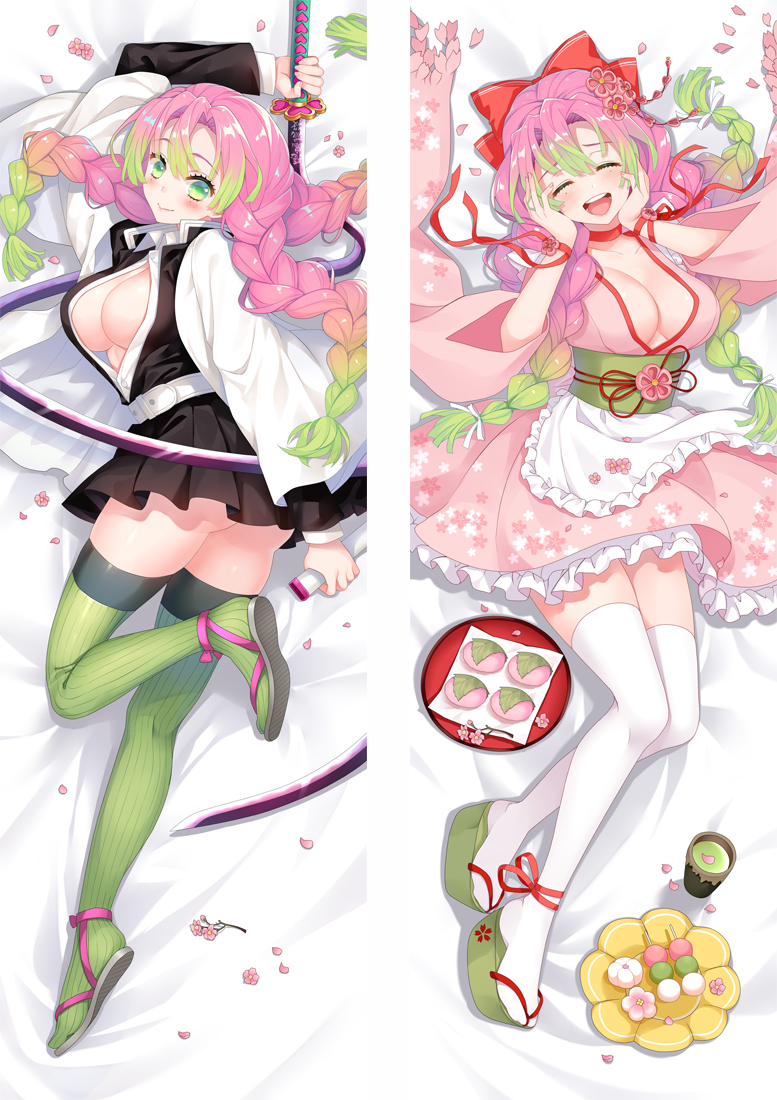 Kimetsu no Yaiba Kanroji Mitsuri Anime Dakimakura Japanese Love Body Pillow Cover