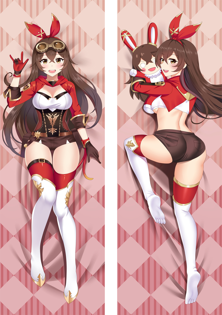 Genshin Impact Amber Anime Dakimakura Japanese Hugging Body PillowCover