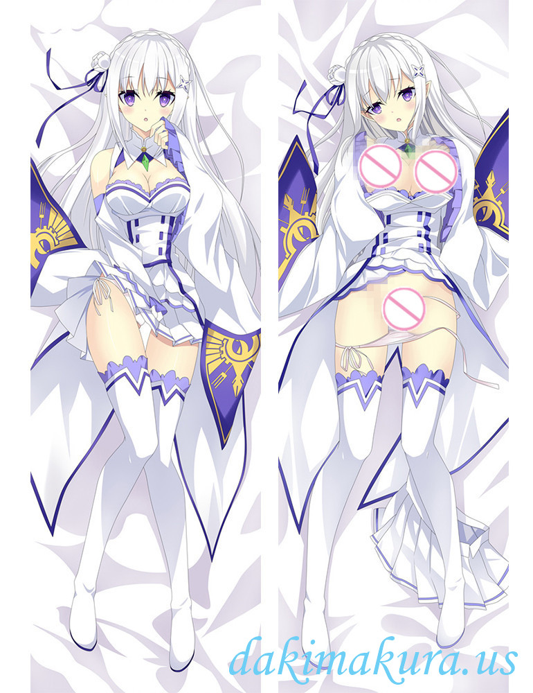 Emilia - Re Zero Anime Dakimakura Japanese Love Body Pillow Cover