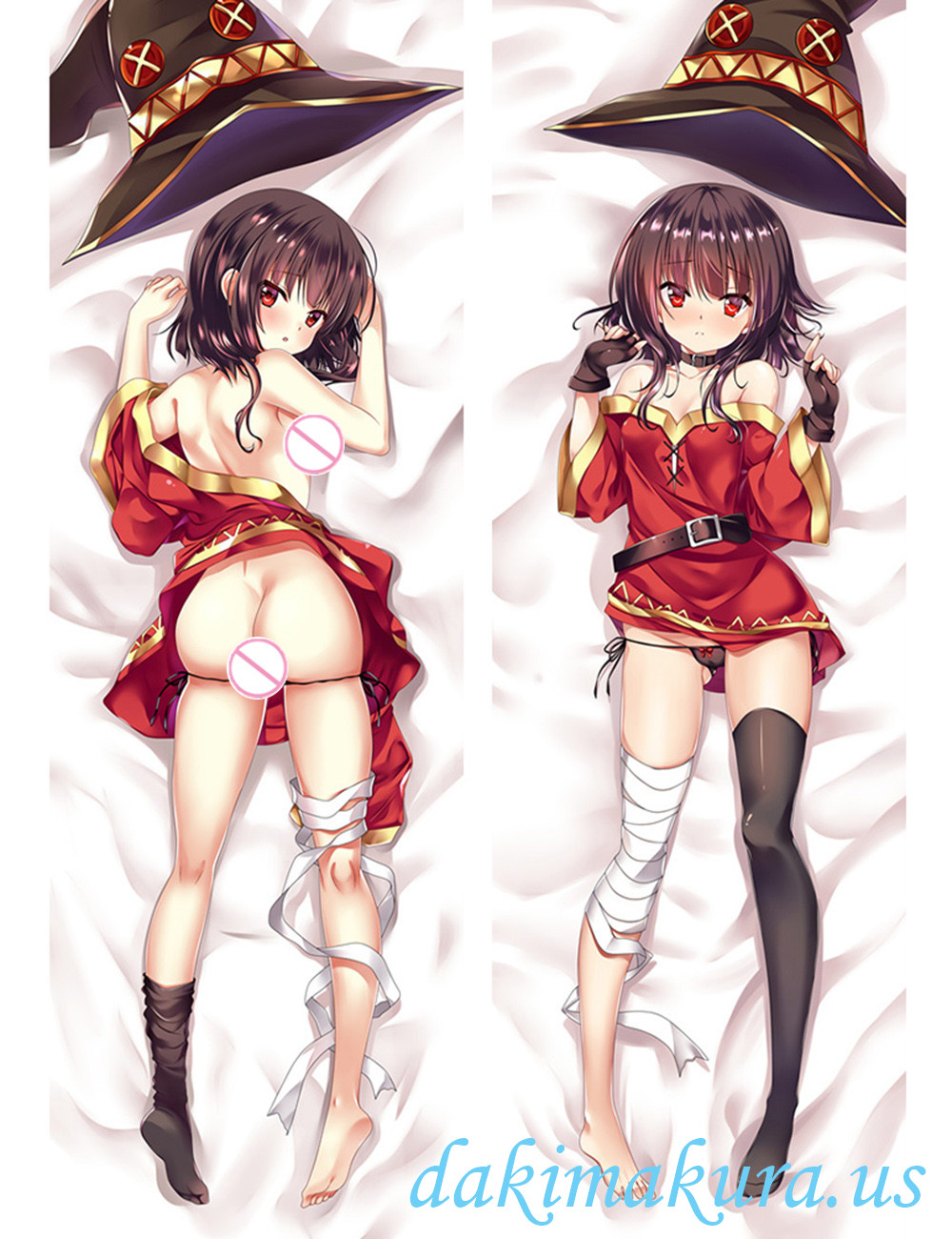 Megumi - KonoSuba Anime Dakimakura Japanese Hugging Body Pillow Cover
